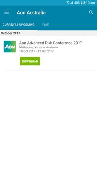 Aon Advanced Risk Conference poster
