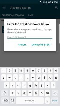 Events at Assante screenshot 1