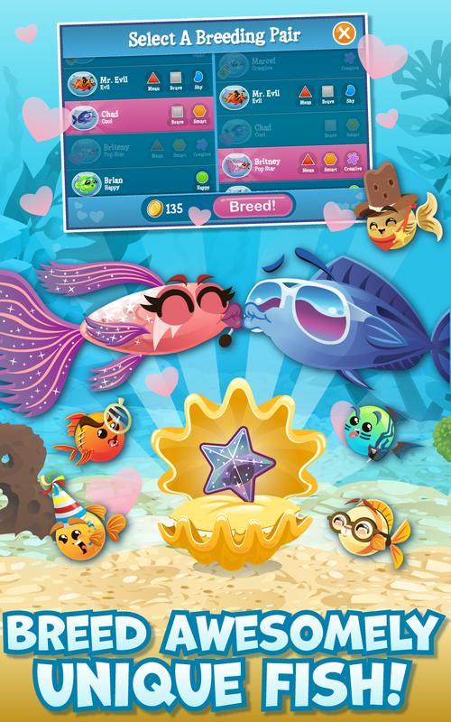 Fish with attitude apk download gratis santai permainan for Fish breeding games