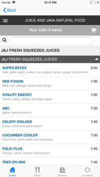 Juice & Java Natural Food screenshot 3