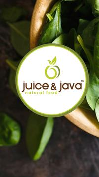 Juice & Java Natural Food poster