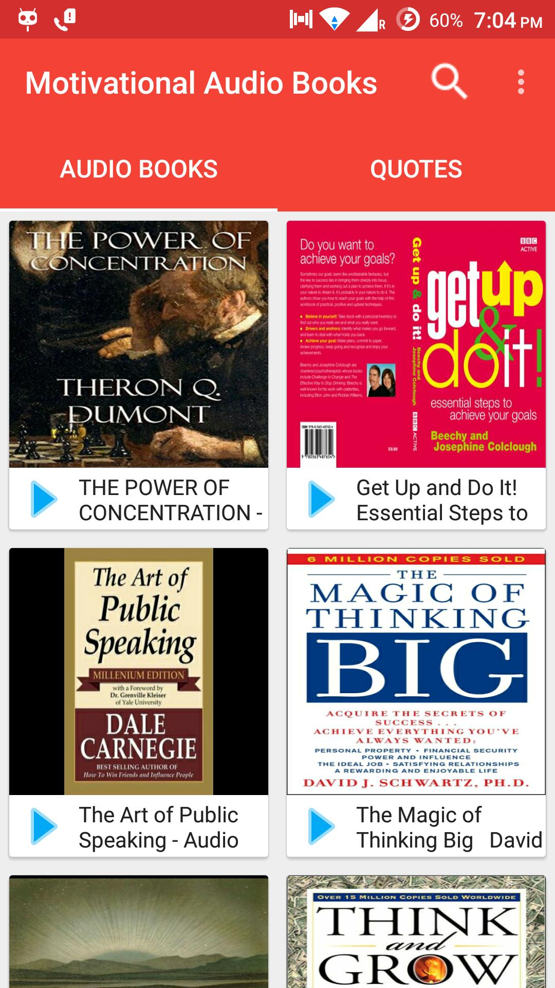 Free Motivational Audio Books & Quotes for Android - APK