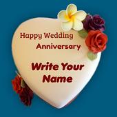 Name On Anniversary Cake icon