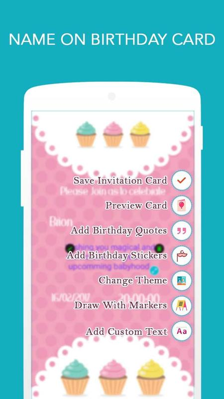Birthday invitation card maker apk download free photography app birthday invitation card maker apk screenshot stopboris Choice Image