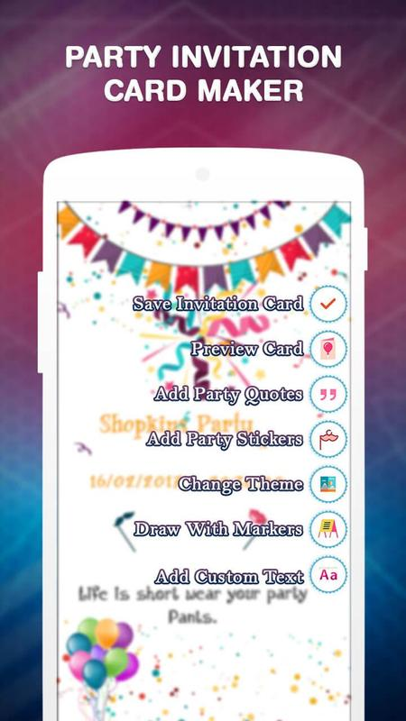 Party invitation card maker apk baixar grtis entretenimento party invitation card maker apk imagem de tela stopboris Image collections