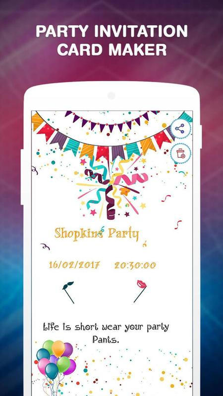 Party invitation card maker apk baixar grtis entretenimento party invitation card maker cartaz party invitation card maker apk imagem de tela stopboris Choice Image