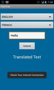 Cryo Translator apk screenshot