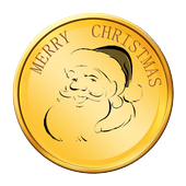 Flip Christmas Coin icon