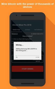 Bitcoin miner pro 2018 para android apk baixar bitcoin miner pro 2018 imagem de tela 2 ccuart Choice Image