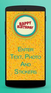 Birthday Card Maker - Bday e.Cards apk screenshot