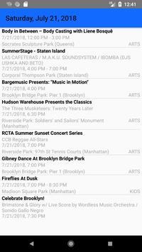 NYC Free Summer Events screenshot 1