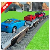 Car Cargo Train Transport 3D icon