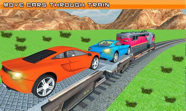Car Cargo Train Transport 3D poster