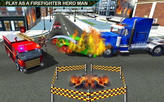 Firefighter Hero City Rescue poster