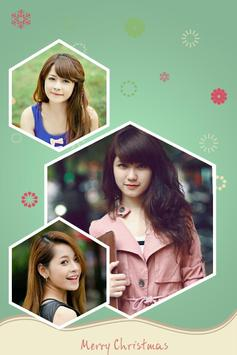 Edit photo with square frames poster