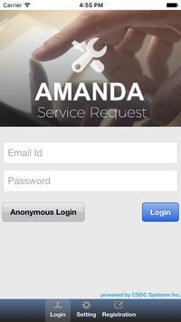 Service Request (AMANDA 6) poster