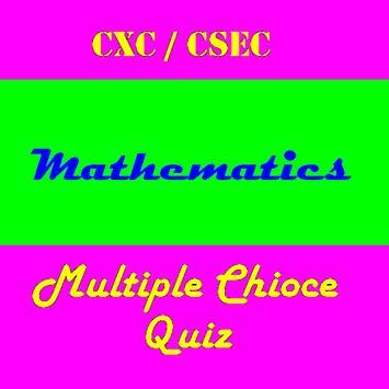 CSEC Math Multiple Choice Quiz poster