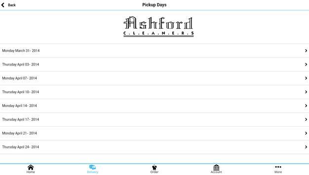 Ashford Cleaners apk screenshot