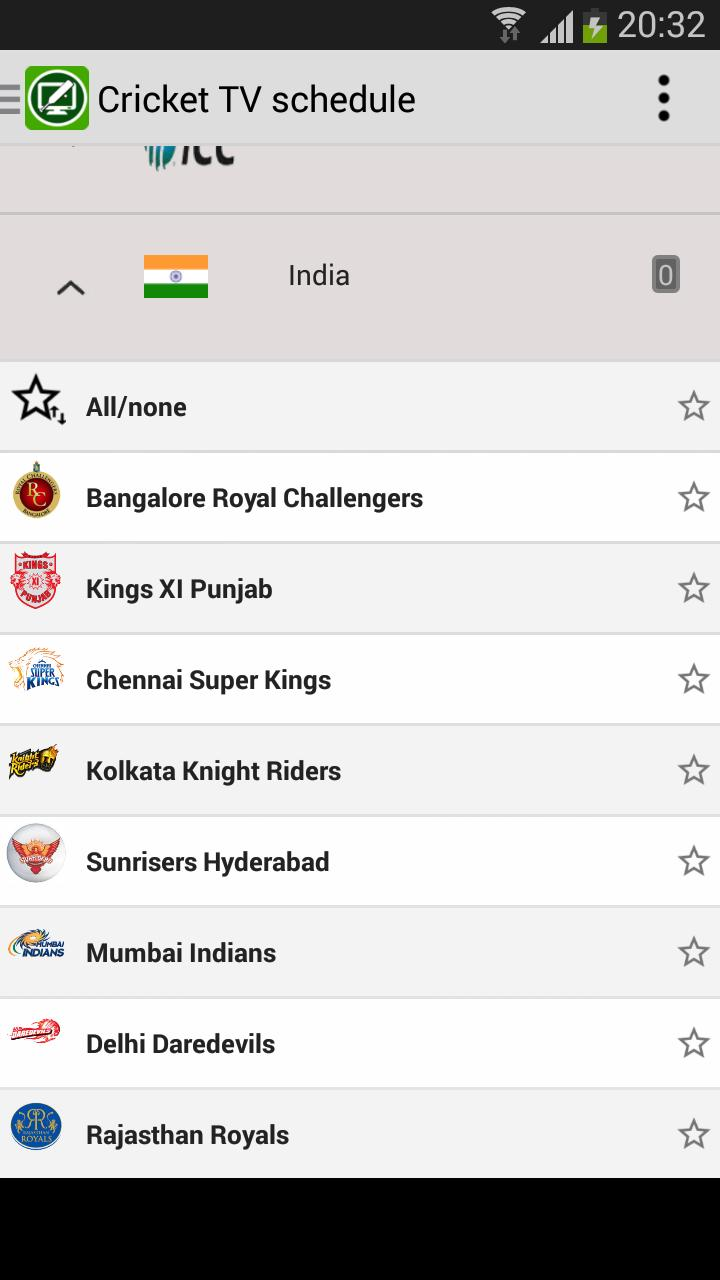 Cricket TV schedule for Android - APK Download