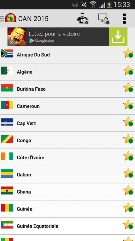 Programme tv can 2015 news apk download free sports app - Coupe d afrique en direct sur internet ...