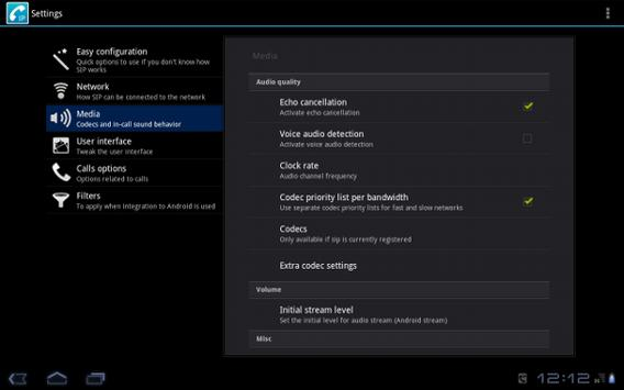 CSipSimple captura de pantalla 5