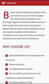 Battery UAE screenshot 2