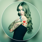 Color Tattoo On Photo icon
