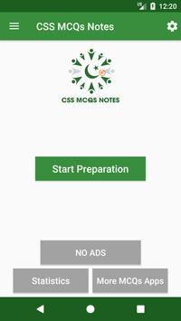 CSS MCQs Notes poster