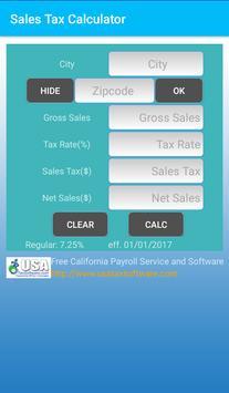 CA Sales Tax apk screenshot