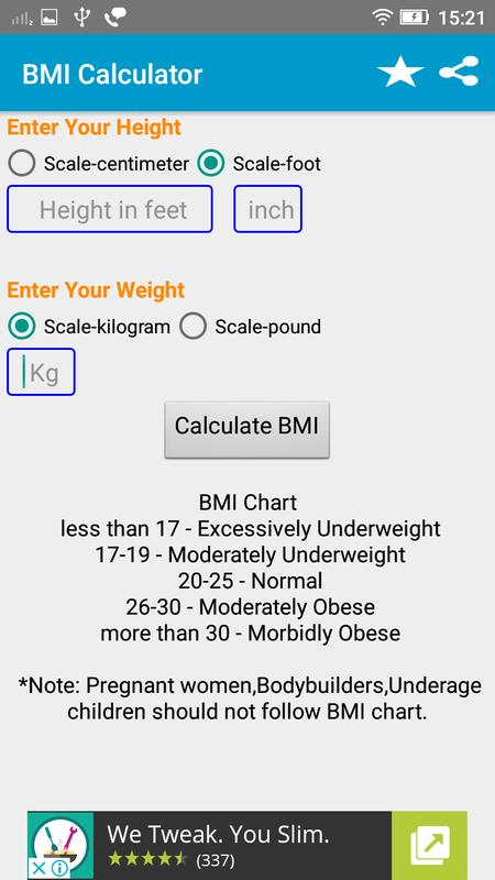 Bmi Calculator For Android Apk Download