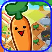 Funny-shaped carrots icon