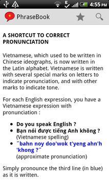 Vietnamese Phrase Book Lite screenshot 6