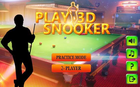international Snooker pool 3D poster