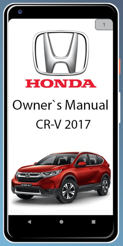 Owners Manual For Honda Cr V 2017 Poster