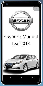 Owners Manual For Nissan Leaf 2018 poster