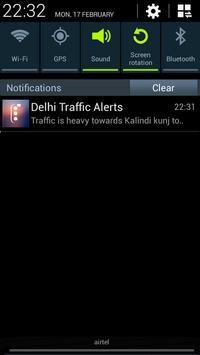 Delhi Traffic Alerts apk screenshot