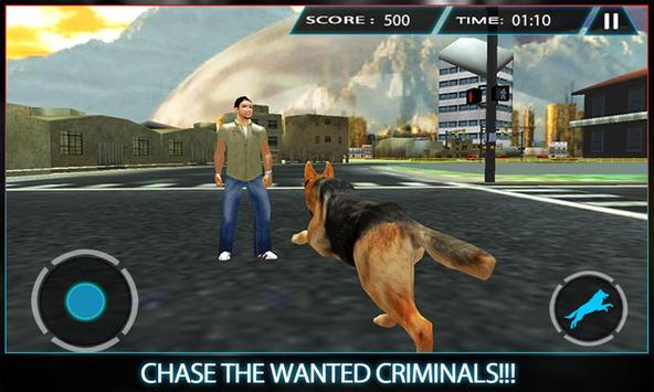 Town Police Dog Chase Crime 3D poster
