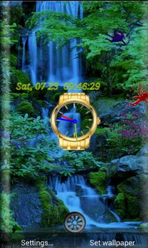 Liveclock Waterfall WP apk screenshot