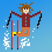 Pixel Skier icon