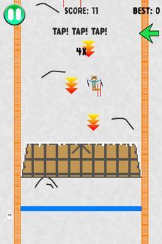 Pixel Skier poster