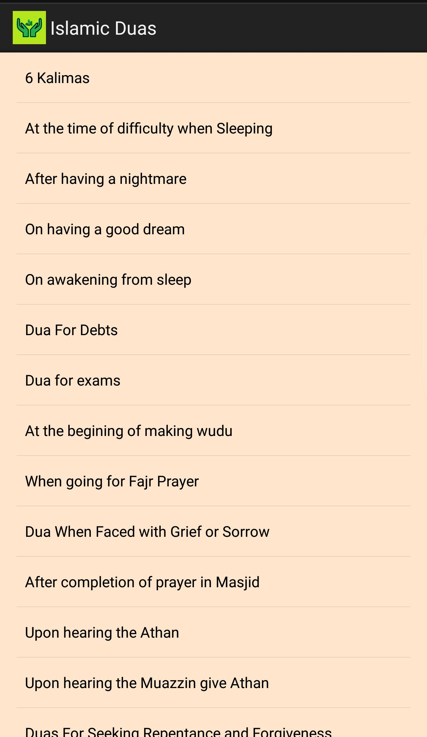 Islamic Dua With Meanings for Android - APK Download