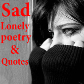 Lonely sad quotes icon