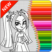 Coloring Page Equestria Girls icon
