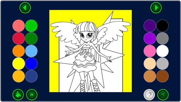 Coloring Page Equestria Girls apk screenshot