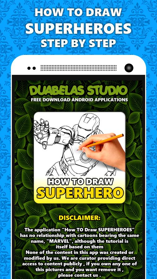 How to Draw SuperHeroes poster