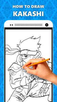 How To Draw Kakashi Characters poster