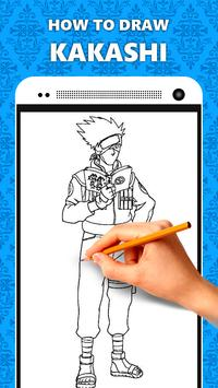 How To Draw Kakashi Characters apk screenshot