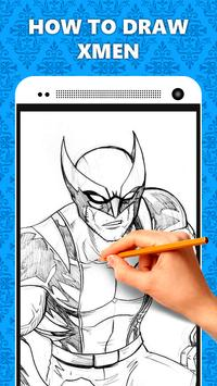 How to Draw XMen Characters apk screenshot