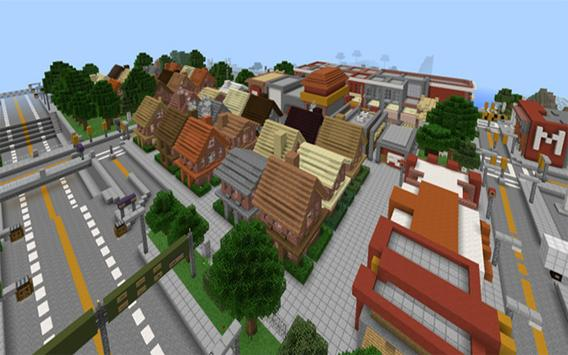 The city of angels map mcpe poster