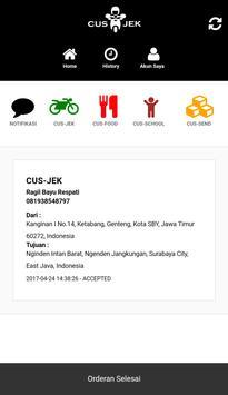 CUS-JEK DRIVER apk screenshot